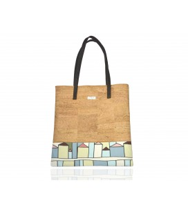 Bolsos Shopper de corcho casitas