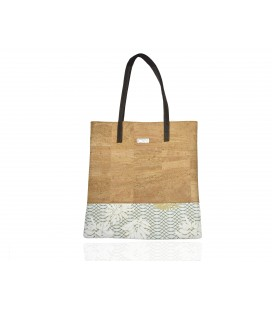 Handbags Shopper cork flowers