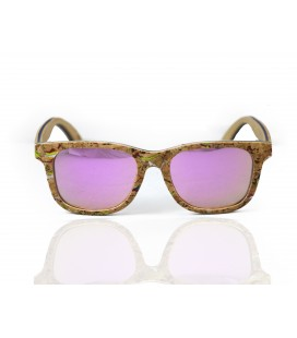 Pink Wood and Cork Sunglasses