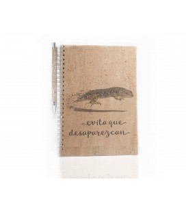 "Cork Notebook ""Lizard"""