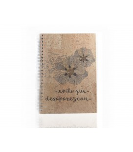 "Cork Notebook ""Rockrose"""