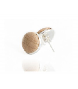 Pending Button Natural Cork sterling Silver