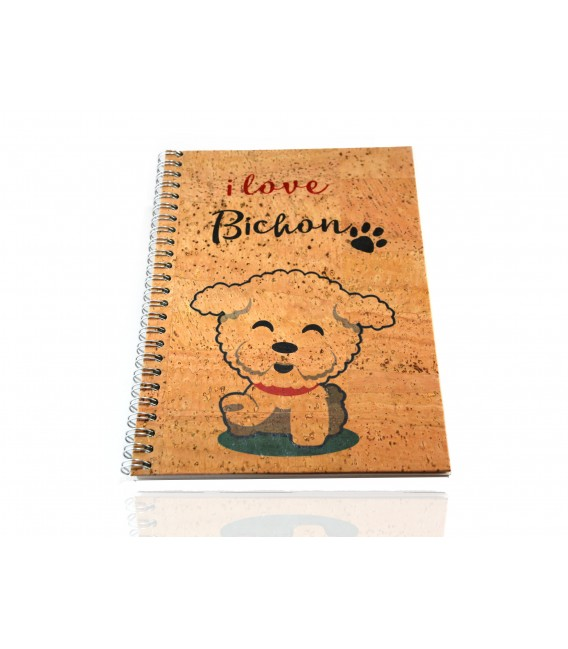 Cork Notebook Bichón