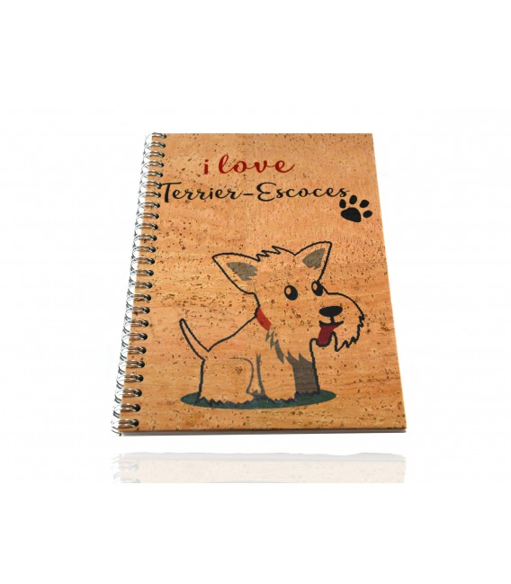 Cork Notebook Scottish terrier
