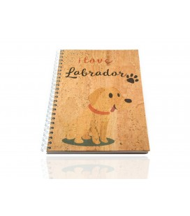 Cork Notebook Labrador