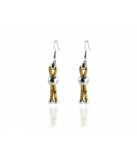 Long cork earring