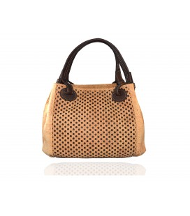 Perforated cork bag