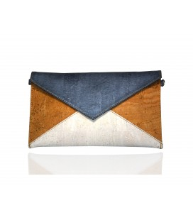 Blue cork envelope bag