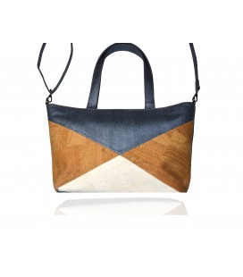 Three-color cork bag
