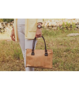 Orange cork handbag