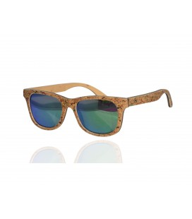 Orange Wood and Cork Sunglasses