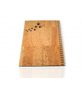Cork Notebook Cat