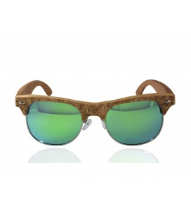 Sunglasses green Wood and Cork